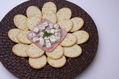 Biscuits avec du fromage Photos stock