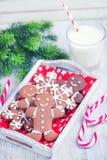 Biscuits avec du lait Image stock
