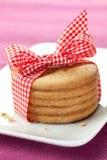 Biscuits avec la bande Photographie stock