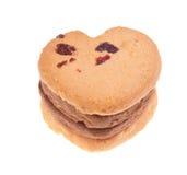 Biscuits avec la canneberge d'isolement sur le backgroun blanc Photos libres de droits
