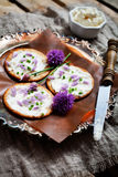 Biscuits avec la ciboulette Photo libre de droits