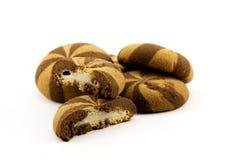 Biscuits avec la confiture Images stock