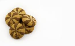 Biscuits avec la confiture Images libres de droits
