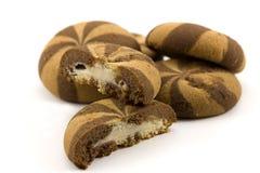 Biscuits avec la confiture Photographie stock