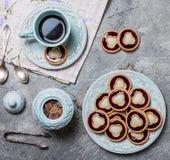 biscuits avec la gelée et le lustre photo libre de droits