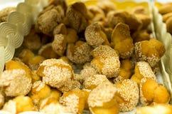 Biscuits avec la graine de sésame Photo stock