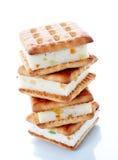 Biscuits avec le bourrage photographie stock