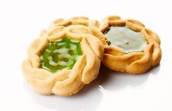 Biscuits avec le bourrage images libres de droits