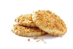 Biscuits avec les écrous écrasés Images stock
