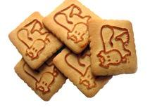 Biscuits avec une vache là-dessus Images stock