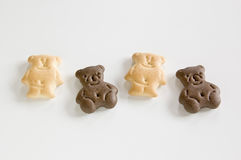 Biscuits of bear shape. Stock Photos