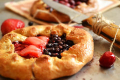 Biscuits with berries Royalty Free Stock Photos