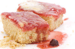 Biscuits with berry jam Royalty Free Stock Photo