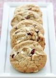 Biscuits blancs d'accumulation de chocolat Images stock