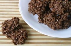 Biscuits bouillis de baisse image libre de droits