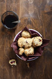 Biscuits in a bowl with coffee Stock Photography
