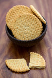 Biscuits in bowl Stock Photos
