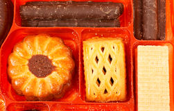 Biscuits in a box royalty free stock photo