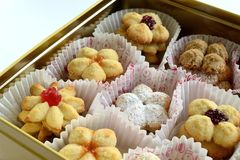 Biscuits in box royalty free stock photography