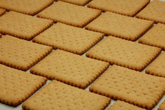 Biscuits in brick pattern Royalty Free Stock Image