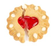 Biscuits. Broken heart. Stock Photography