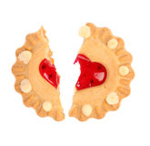 Biscuits. Broken heart. Royalty Free Stock Photos
