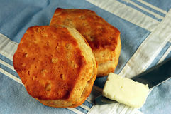 Biscuits and Butter Royalty Free Stock Photos