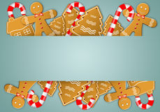 Biscuits and candy cane Royalty Free Stock Photo