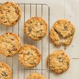 Biscuits caoutchouteux de biscuit à l'avoine photos libres de droits