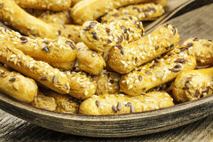 Biscuits with caraway seeds Royalty Free Stock Photography