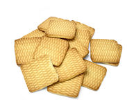 Biscuits carrés Photo stock