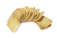 Biscuits carrés Photographie stock libre de droits