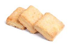 Biscuits carrés d'isolement Images libres de droits