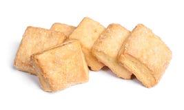 Biscuits carrés d'isolement Image libre de droits