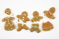 Biscuits cassés de pain d'épice. Images libres de droits