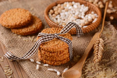 Biscuits on cereals and rice Stock Photography