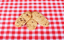 Biscuits on checkered cloth Stock Image