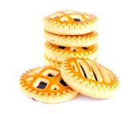 Biscuits with Cherry Jam Royalty Free Stock Images
