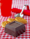 Biscuits and Chocolate Stock Photo