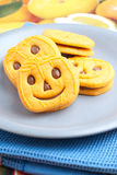 Biscuits with chocolate Royalty Free Stock Images