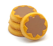 Biscuits with chocolate Stock Images