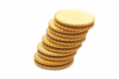 Biscuits with chocolate Royalty Free Stock Photos