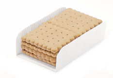 Biscuits with chocolate and cappuccino Royalty Free Stock Image