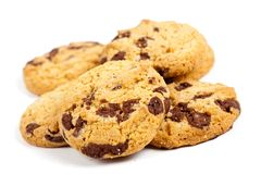 Biscuits with chocolate chips Royalty Free Stock Image