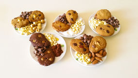 Biscuits. Chocolate chips, almonds, hazelnuts, coconut Royalty Free Stock Photography