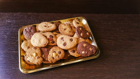 Biscuits. Chocolate chips, almonds, hazelnuts, coconut Royalty Free Stock Image