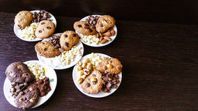 Biscuits. Chocolate chips, almonds, hazelnuts, coconut Stock Image