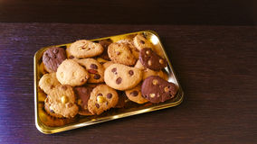 Biscuits. Chocolate chips, almonds, hazelnuts, coconut Stock Photography