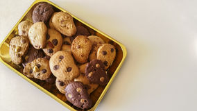 Biscuits. Chocolate chips, almonds, hazelnuts, coconut Royalty Free Stock Photo