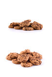 Biscuits with chocolate chips inside. Set stock photography